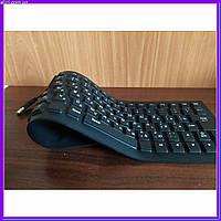 Силиконовая клавиатура черная, фото 1