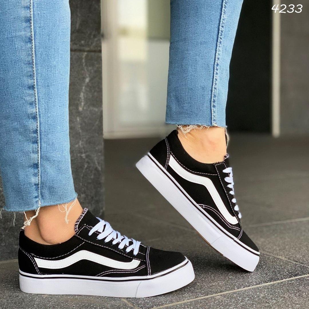 Женские черные кроссовки, обувной текстиль