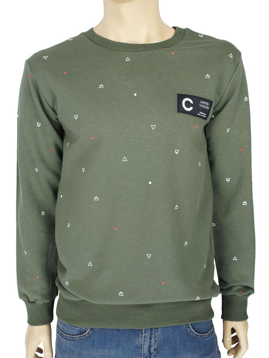 Стильний чоловічий светр Madmext Man 2062 кольору хакі