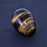 Яйцо сувенир из натурального камня Тигровый глаз d-35х25+-мм купить оптом в интернет магазине