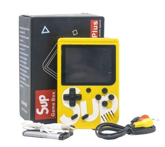 Портативная игровая ретро приставка 8 бит SUP 400 in 1 Денди Retro Game Box 14063 Желтая