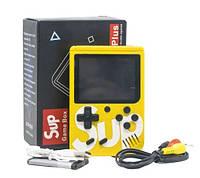 Портативная игровая ретро приставка 8 бит SUP 400 in 1 Денди Retro Game Box 14063 Желтая, фото 1