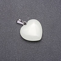 """Кулон синее свечение """"Сердце"""" из натурального камня Оникс 28х19х19мм (+-) купить оптом в интернет магазине"""