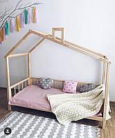 Детская подростковая кровать Домик 160см / 80 см ,Чердак кровать,двухъярусная кровать