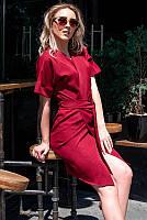 Однотонное летнее платье с запахом р-ры 42,44,46,48,50,52,54,56,58,60