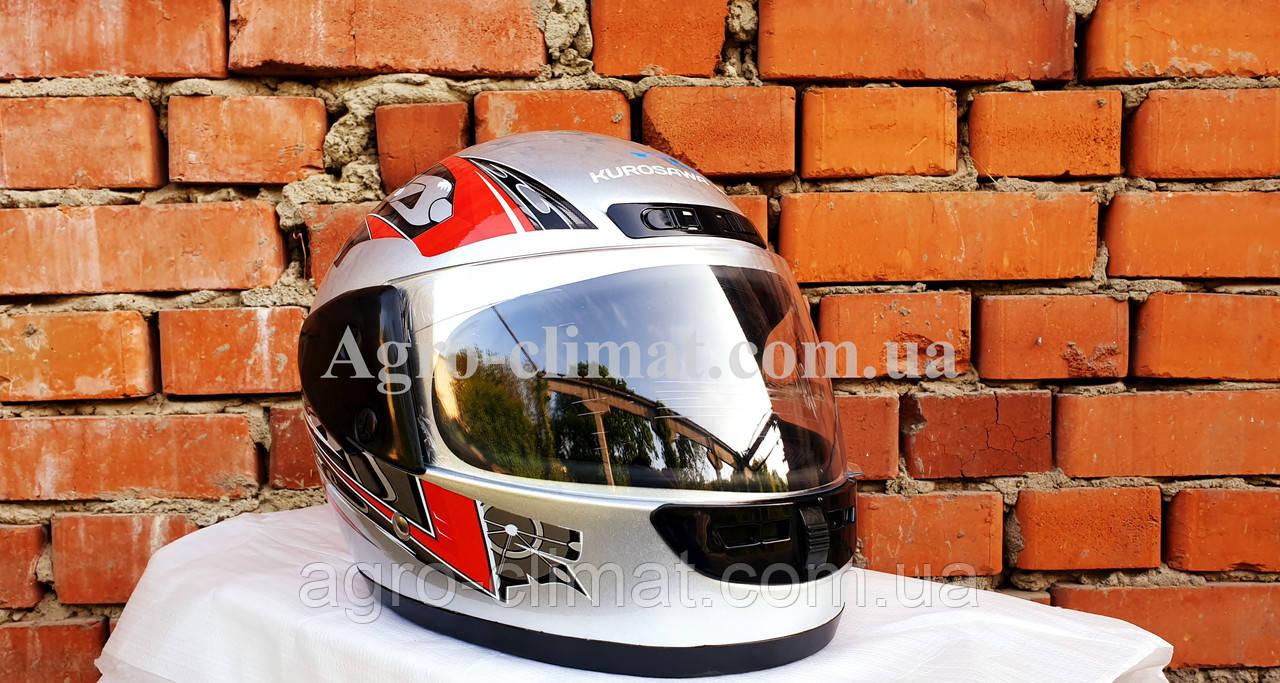 Шлем для мотоцикла hel-met 101 серый с красным