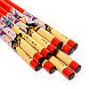 Набор палочек для суши красный с китаянкой на 5 пар 15, фото 3