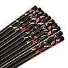 Набор палочек для суши черный с золотыми журавлями на 5 пар 18, фото 2