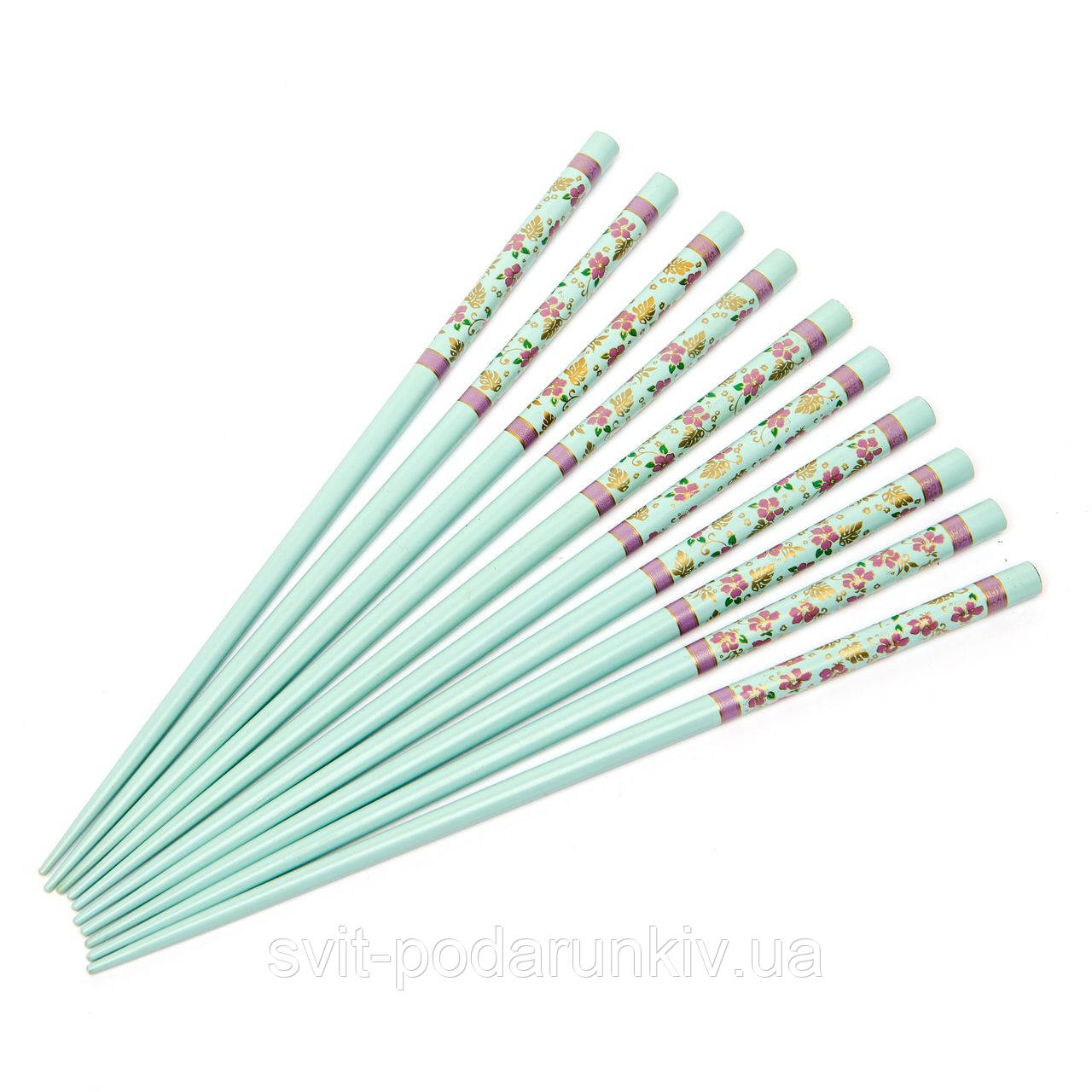 Набор палочек для суши голубой с сакурой на 5 персон 19