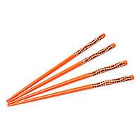 Палочки для еды на 2 персоны оранжевый 03