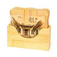 Подставка для чашки бамбуковые набор 6 шт. 2