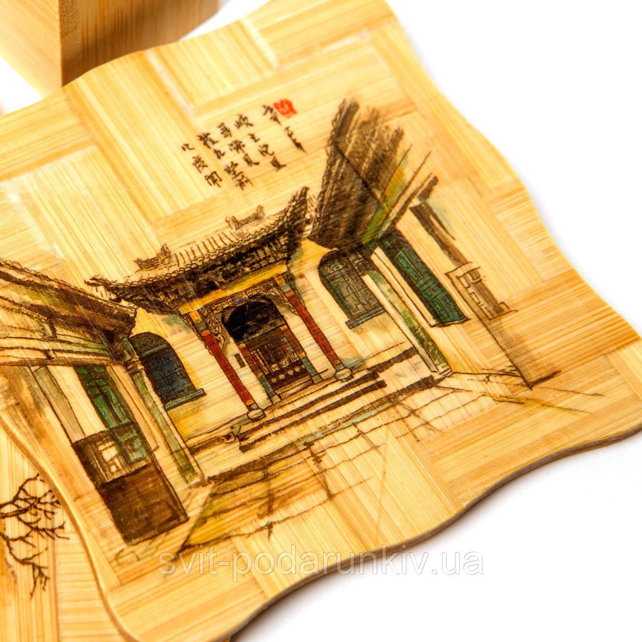Подставка бамбуковая для чашки