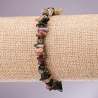 Браслет из натурального камня Турмалин крошка на резинке d- 5-8мм L-18см купить оптом в интернет магазине