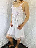 Жіноча нічна сорочка бавовна рожева 532 42-46