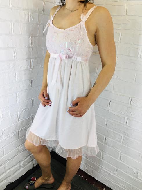 Женская ночная сорочка хлопок розовая 532 42-46