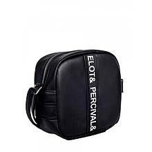 Стильная женская сумка черная кроссбоди с длинным ремешком через плечо матовая экокожа