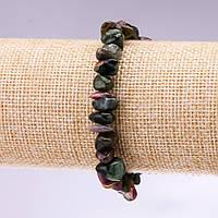 Браслет натуральный камень Турмалин крошка d-8-12мм L- 18см купить оптом в интернет магазине