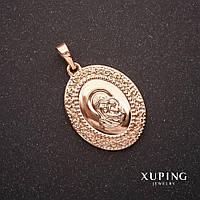 Кулон Xuping Иконка Богородица 17х23х28мм позолота