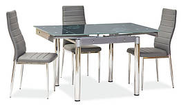 Стол обеденный стеклянный GD-082 Signal серый