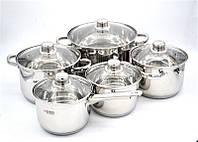 Набор посуды (4 кастрюли + ковш) 10 предметов - Benson BN-207