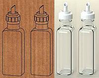 """Набор бутылки Everglass 100 мл. для жидких продуктов 2 шт. """"Maraska"""" с белой пластиковой крышкой - дозатором"""