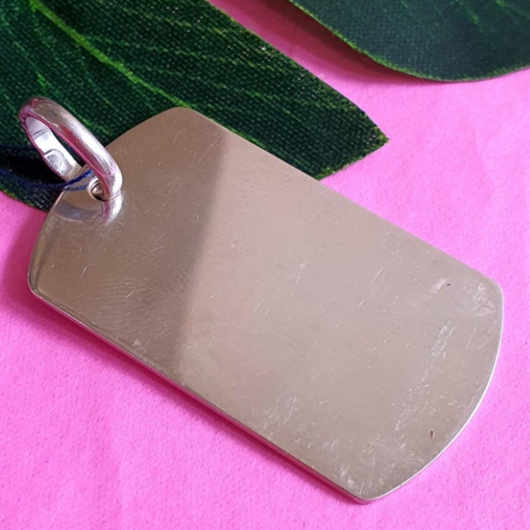 Серебряный армейский жетон - Военный жетон из серебра 925 - Серебряный жетон для солдата