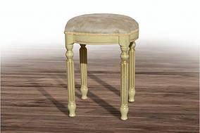 Пуф Сицилия Слоновая кость+патина, замша Челси 06 (Микс-Мебель ТМ)