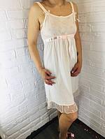 Жіноча нічна сорочка бавовна пудрова 526 42-46