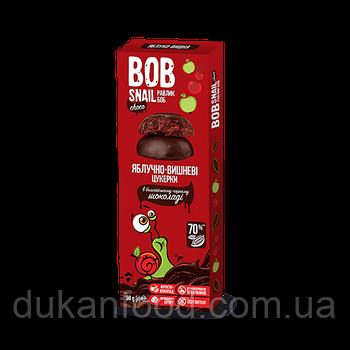 Конфеты Яблочно-Вишневые в бельгийском чёрном шоколаде, 30 г