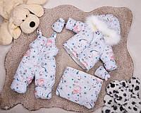 .Детский комбинезон трансформер, зимний комбинезон для новорожденных от 0до2 снигири