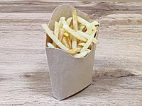 Коробка для картошки фри 120 грамм, 75х40х125 мм/ 100 шт