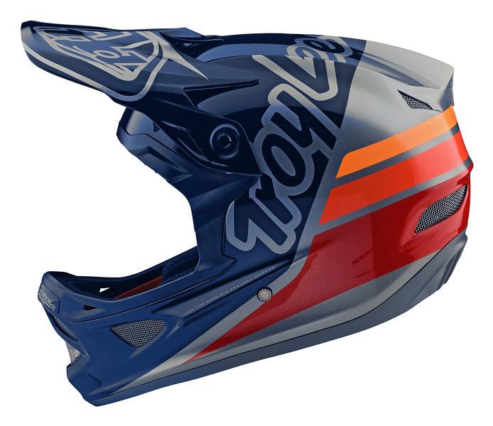 Вело шлем TLD D3 Fiberlite [Silhouette navy/Silver] XL