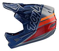 Вело шлем TLD D3 Fiberlite [Silhouette navy/Silver] XL, фото 1