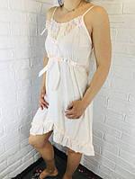 Жіноча нічна сорочка бавовна пудрова 510 42-46