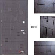 Дверь входная металлическая Straj,  Каскад Plus,Berez Standard,Kale-257 L5 + Kale 252 R,Венге горизонт серый ,950х2040 ,левая