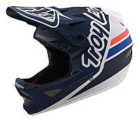 Вело шлем TLD D3 Fiberlite [Silhouette navy/White] размер MD, фото 1