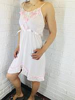 Жіноча нічна сорочка бавовна рожева 510 42-46