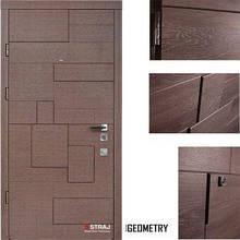 Дверь входная металлическая Straj, Пирамис,Straj LUX,Каштан Гринс Коричн ,860х2040 ,левая