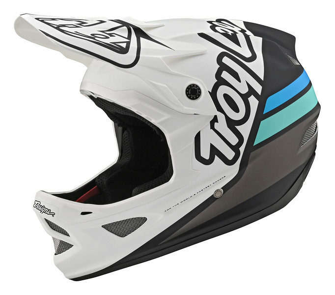 Вело шлем TLD D3 Fiberlite [Silhouette White/Navy] размер LG
