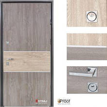 Дверь входная металлическая Straj, Party C ,Proof Standart, MUL-T-LOCK,Дуб серый  ,860х2040 ,левая