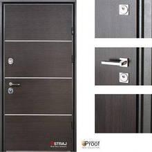 Дверь входная металлическая Straj, Party D ,Proof Standart, MUL-T-LOCK,Венге темный  ,960х2040 ,левая