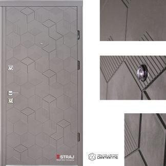 Дверь входная металлическая Straj,Standard SEC Lux  ,Straj LUX,  1(Maristella/Софт Латте 10ST) 2(Софт Сантьяго)  ,960х2040 ,левая