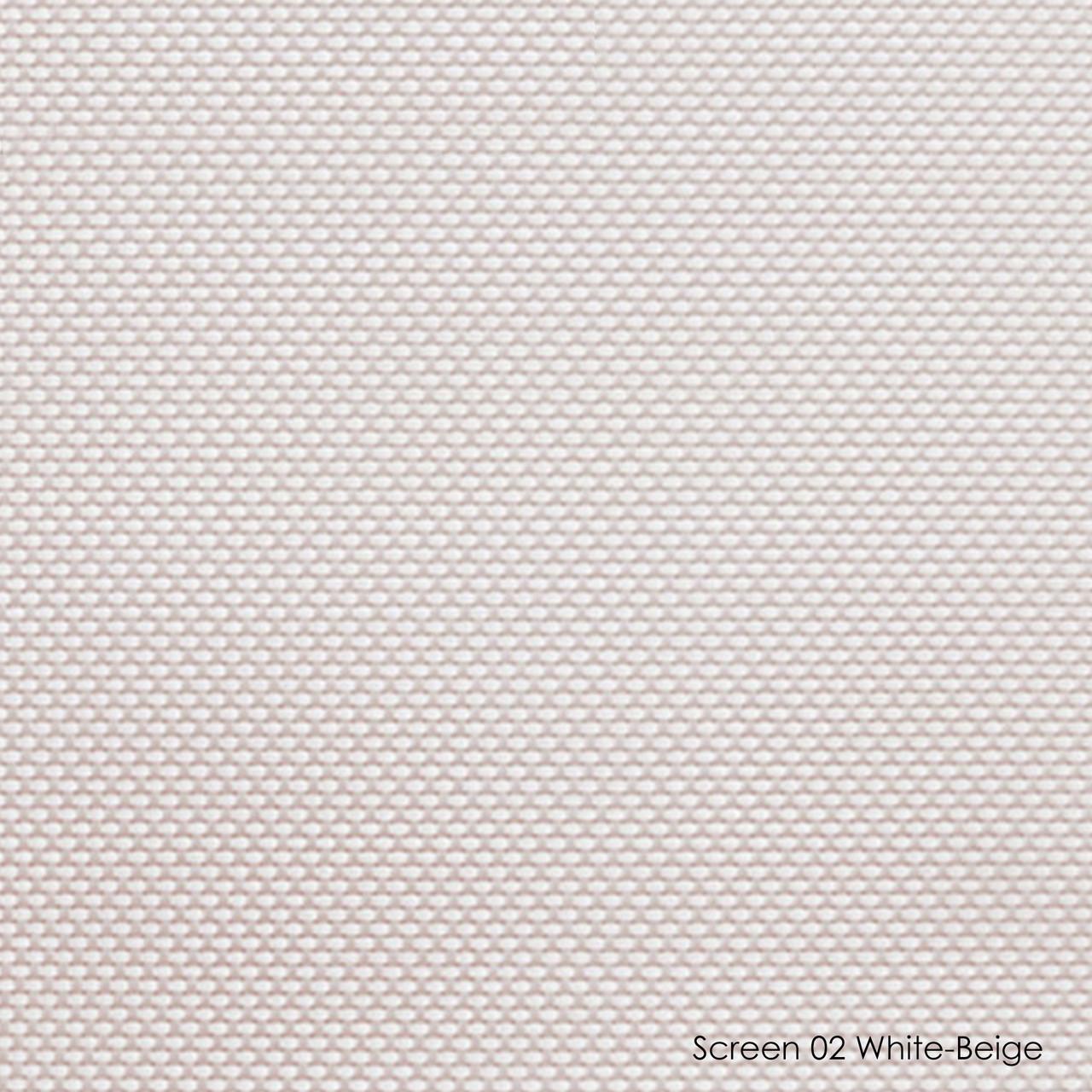 Тканевые роллеты Screen-02 white-beige