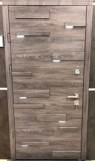 Дверь входная металлическая Straj,Expo light ,Straj Standart ,  MUL-T-LOCK, Дуб шале графит / Дуб шале седой ,960х2040 ,левая