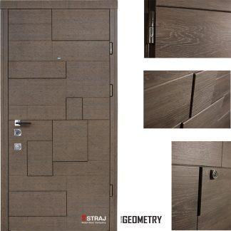 Дверь входная металлическая Straj,Пирамис ,Straj Standart ,  MUL-T-LOCK,Каштан Гринс коричневый ,860х2040 ,левая
