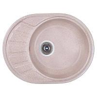 Кухонная гранитная мойка Cosh 5845 kolor 806 (COSH5845K806) карамель 57*44