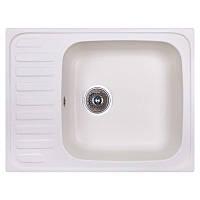 Кухонная гранитная мойка Cosh 6449 kolor 203 (COSH6449K203) белая 64*49