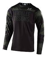 Джерси TLD Skyline L/S Jersey [Pinstripe Camo Green/Black] размер LG
