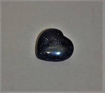 Сувенирный камень Авантюрин Синий Песок Ночь Каира в форме сердца 37х40(+-)мм купить оптом в интернет магазине