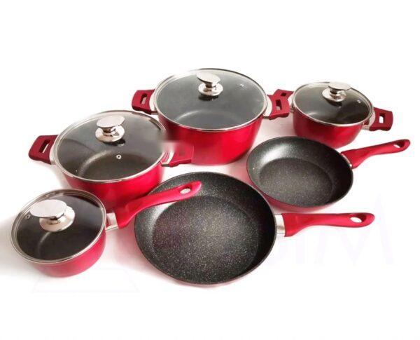 Набор посуды с утолщенными стенками - 10 предметов Benson BN-335